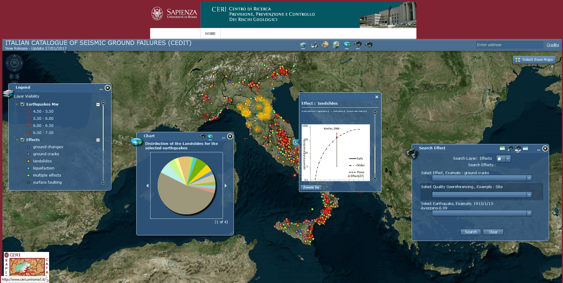 Italian Catalogue of Earthquake-Induced Ground Failures - CERI, La Sapienza University (Rome)