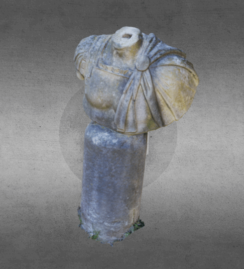 Statue Botanic Garden of Rome - Italy, 3D model generated by SFM tecnology